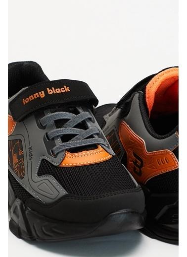 Tonny Black Siyah Turuncu Çocuk Spor Ayakkabı Tbz31 Siyah